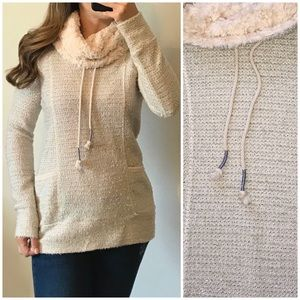 MAURICES Fuzzy Boucle Knit Cowl Neck Sweater Small